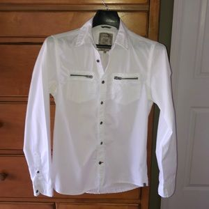 Guess 100% cotton button down shirt size XS